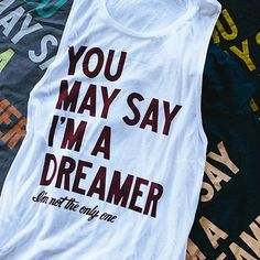 """For the Dreamers, John Lennon & Beatles fans. Get """"the dreamer"""" shirt & you'll give $7 to Sevenly's charity of the week! {Check it out!} #sevenly #johnlennon #thebeatles"""