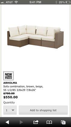 Ikea arholma outdoor, deck furniture, sofa combin, patio, balconi