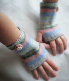 recycled sweater - I have some and LOVE these!!