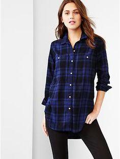Plaid tunic...I need this. Love the Gap.