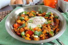 eggs, breakfast hash, yummi breakfast, yolk tast, potatoes, fun recip, tast amaz, egg yolk, sweet potato