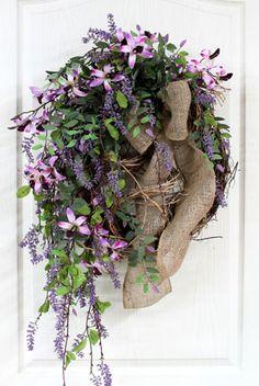 Spring Front Door Wreath, Wildflower Wreath!