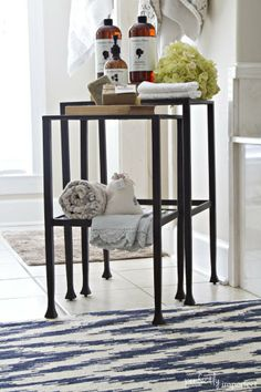 Pottery Barn PINterior Decorating Challenge | perfectly imperfect #potterybarn #tannernestingtables