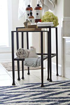 nesting tables, potteri barn, interior styling, tanner nest, master baths, bathroom, pottery barn, interior style, nest tabl