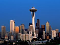 Seattle's famous landmark, the Space Needle.  www.booksbybeck.com