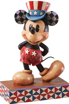 Disney Traditions by Jim Shore: Patriotic Mickey Mouse -  1500 Points