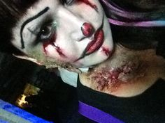 Evil zombie clown makeup