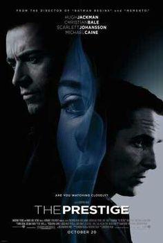The Prestige film, scarlett johansson, christian bale, poster, full movi, favorit movi, prestig 2006, hugh jackman, the secret