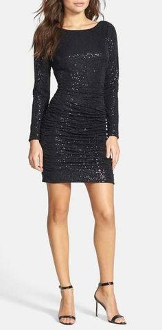 Steal the spotlight in a sequin dress