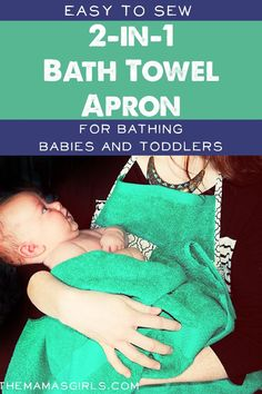 Easy to Sew 2-in-1 Bath Towel Apron - this is the BEST IDEA!