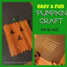 FUN kids pumpkin crafts for all ages.