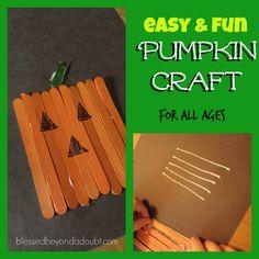 Have your children enjoy this easy kids pumpkin crafts!