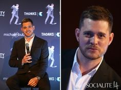 Michael Buble Shows Off His Male Model Potential At An Australian Press Conference