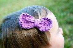 Easy Peasy Bow: Free Crochet Pattern
