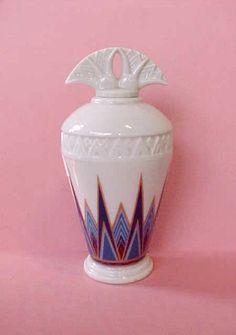Porcelain Art Deco Perfume Bottle