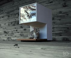 she DIY-ed this modern cat house