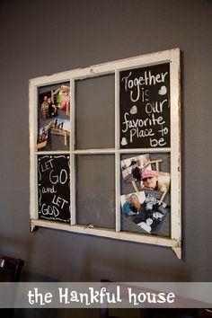 The Hankful House: Old Window Frame Redo