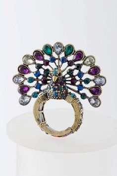PEACOCK RING Stretchable