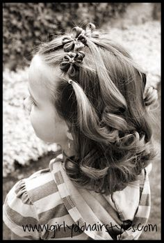 Girly Do's By Jenn: Flowers in Hair {part two}
