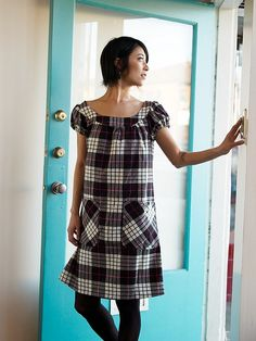 from Chic and Simple Sewing book. great dress! I think I even have this pattern plaid.
