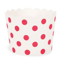 Paper Baking Cups-White/Red Dots
