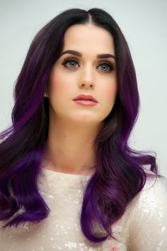 purple hair, dye, hair colors, ombre hair, purpl hair, kati perri, katy perry, beauti, hair color ideas