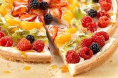"""Fabulous Fruit Pizza with a sugar cookie crust is a """"Go To"""" recipe for all our get togethers. Just use the fruit you have on hand. Such a cr..."""