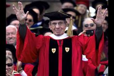 Leonard Nimoy receiving an honorary doctorate from Boston University, May 2012
