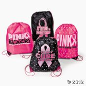 12 Pink Ribbon Backpacks 144/318