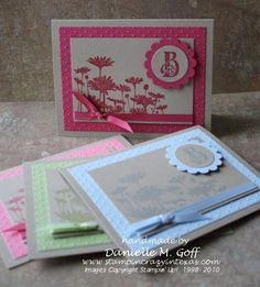 These adorable monogrammed cards measures 4 1/4 x 5 1/2""