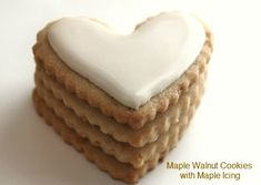 Maple walnut cut out cookies with maple icing.