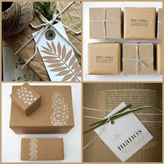 Natural gift wrapping ideas