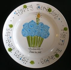A special plate to use every year ---super cute. A special plate to use for every meal on their birthday