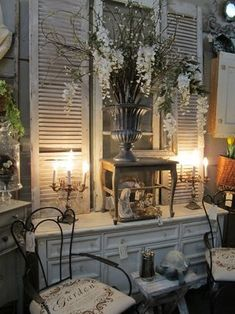 merchandising ideas antique mall booth | New booth ideas!! / shabby at an antique mall
