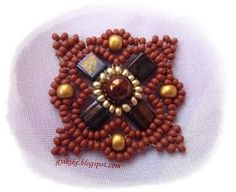 Schema:  Use as pendant, pin, or earrings. #Seed #Bead #Tutorials