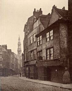 """Drury Lane, 1876. From the song """"do u know the muffin man"""""""