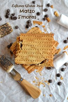Leftover Gluten Free Matzo S'mores