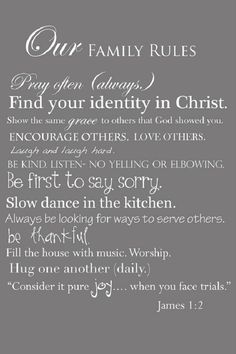 Family Quotes | Rules for the Christian family…