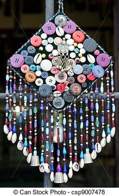 ButtonArtMuseum.com - Turkish handcrafted windchime - csp9007478