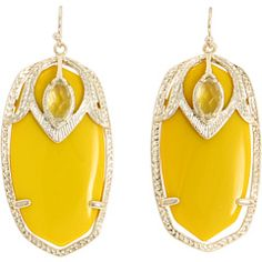Kendra Scoot Yellow Onyx Earrings...I love these so so much!