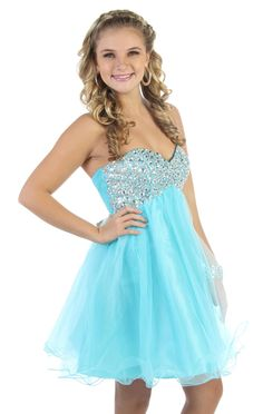 strapless party dress with chunky stone bodice and wire hemline