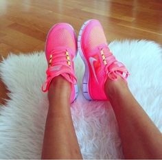 Pink Nikes, want them!