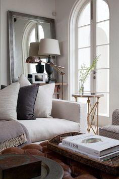 interior, living rooms, livingroom, arch window, linens