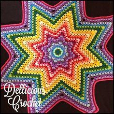 Image of Granny Star throw Pattern