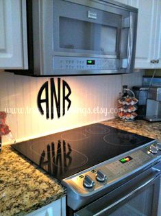 monogram over oven