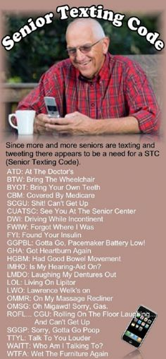 Senior Texting Code - now even I can do it