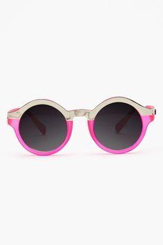neon pink shades / nasty gal