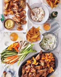 "Super Bowl // ""Love"" Dip with Tortilla Chips and Crudites Recipe"