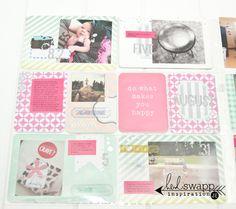 #HeidiSwapp #MixedCompany #PocketPage using 6x6 paper pad by Jennifer Evans