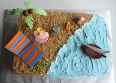 Finger Licking Food: Beach theme & Cricket theme Cakes for an Event